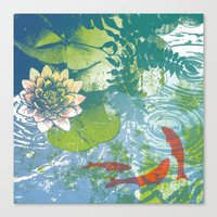Fish pool  Canvas Print
