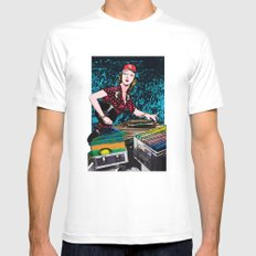 El DJ White Mens Fitted Tee SMALL