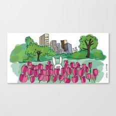 Tulip Bunny Canvas Print