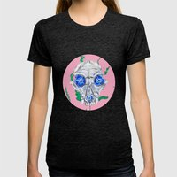 See Into Me Womens Fitted Tee Tri-Black SMALL