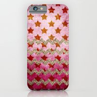 iPhone & iPod Case featuring Stars with glitter chevron by Ylenia Pizzetti