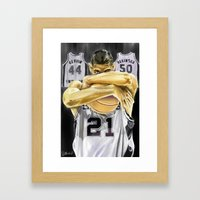 Duncan And The Three Pil… Framed Art Print