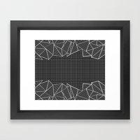 Grids And Stripes Black Framed Art Print