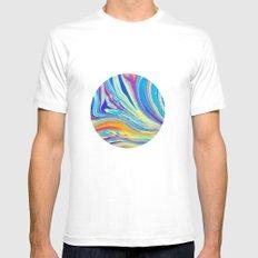 rainbow swirl Mens Fitted Tee White SMALL