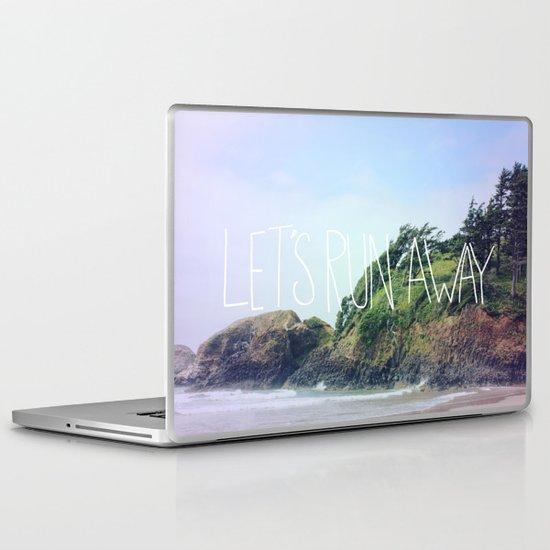 Let's Run Away: Cannon Beach, Oregon Laptop & iPad Skin