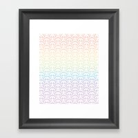 Rainbow Emeralds Pattern Framed Art Print