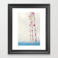 Prayer Flags No. 2 Framed Art Print