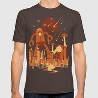 Armageddon Mens Fitted Tee Brown SMALL