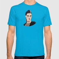 Clara Lille Watch Dogs Mens Fitted Tee Teal SMALL