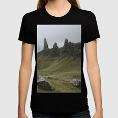The Old Man of Storr - Landscape Photography Womens Fitted Tee Black SMALL