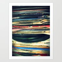 music Art Prints featuring put your records on by Bianca Green