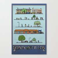 London Fields Canvas Print