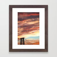 Sunsets Over Brooklyn Framed Art Print