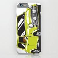 iPhone & iPod Case featuring Mini Cooper Car - Chartreuse by C Barrett