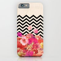 collage iPhone & iPod Cases featuring Chevron Flora II by Bianca Green