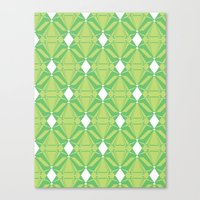 Abstract [GREEN] Emeralds Canvas Print