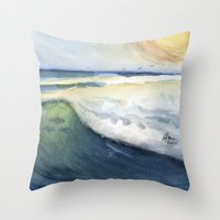 Warm Waves Throw Pillow