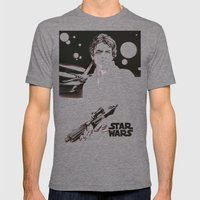 Luke Skywalker Mens Fitted Tee Tri-Grey SMALL