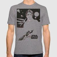 Luke Skywalker Mens Fitted Tee Tri-Grey SMALL