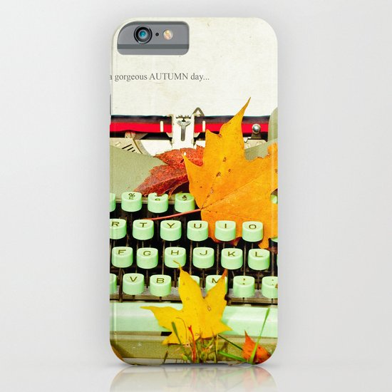 It Was a Gorgeous Autumn Day iPhone & iPod Case