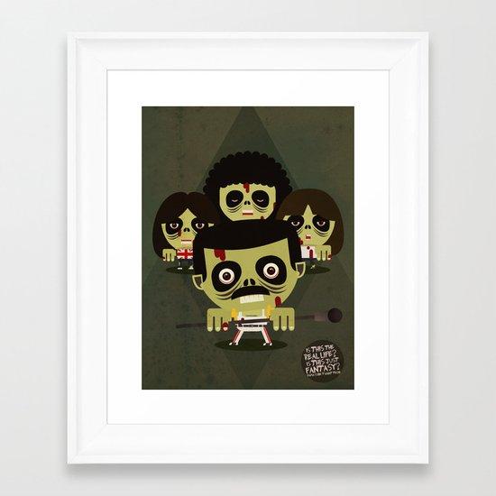 queen zombies Framed Art Print