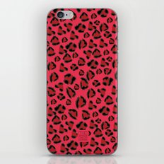 Pink and Red Jaguar iPhone & iPod Skin