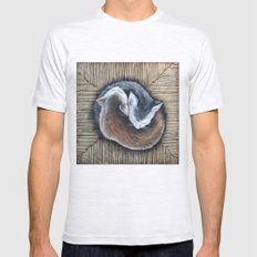 Cats rest Mens Fitted Tee Ash Grey SMALL