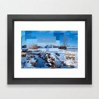 The Barn Looks Kinda Blo… Framed Art Print