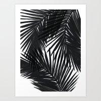 Palms Black Art Print