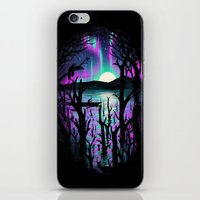 Night With Aurora iPhone & iPod Skin