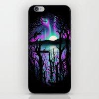 Night With Aurora iPhone & iPod Skin