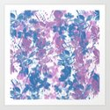 Elegant Painterly Floral Abstract Art Print