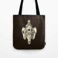 Coyote Skulls - Black An… Tote Bag