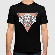 candy skull Mens Fitted Tee Black SMALL
