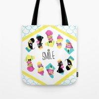 Hipster Smile Tote Bag