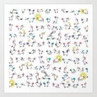 Lovely Little Unicorns Art Print