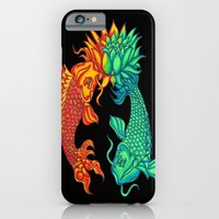 iPhone & iPod Case featuring Koi Fish Lotus by Rishi Parikh
