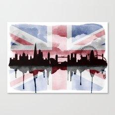 Great British Flag London Skyline 2 Canvas Print