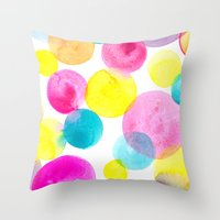 Confetti paint Throw Pillow