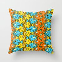 Something Is Nicely Fish… Throw Pillow