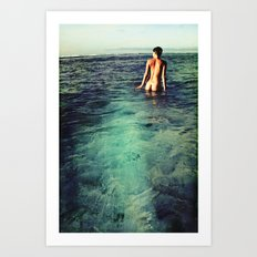 Nude Ocean Art Print