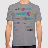 Printer Squares Mens Fitted Tee Athletic Grey SMALL