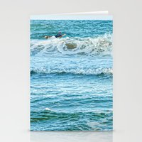 Enjoying the surf in summer Stationery Cards