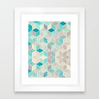 Vacation Patchwork Framed Art Print