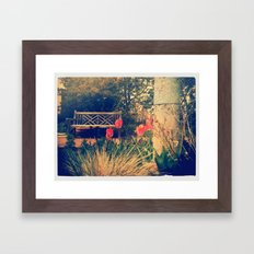 Bench 2 Framed Art Print
