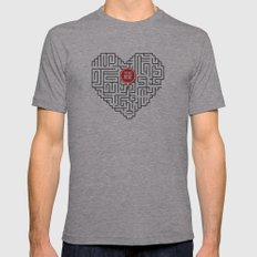 Finding Love II Mens Fitted Tee Athletic Grey SMALL