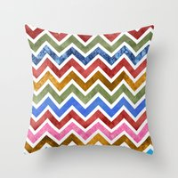 Chevrons in Color Throw Pillow