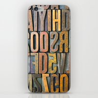 Letterpress Stacked iPhone & iPod Skin