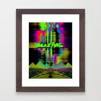 Blazing Framed Art Print