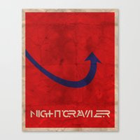 Minimalist Nightcrawler Canvas Print